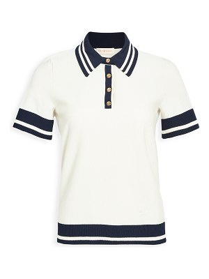 Tory Burch mesh polo shirt