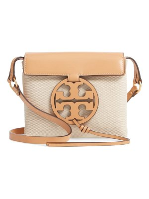 Tory Burch miller canvas & leather crossbody bag