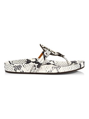 Tory Burch miller cloud embossed leather thong sandals