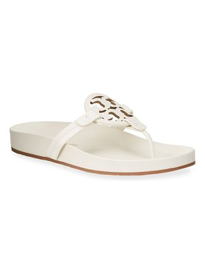Tory Burch Miller Cloud Leather Thong Sandals