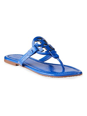 Tory Burch Miller Flat Logo Slide Sandals