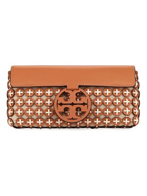 Tory Burch Miller Leather Chain Mail Clutch Bag