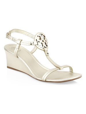 Tory Burch miller leather logo wedge sandals