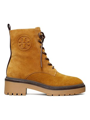 Tory Burch miller lug-sole suede combat boots