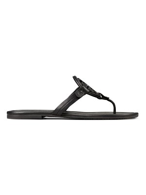 Tory Burch miller metal embellished leather thong sandals