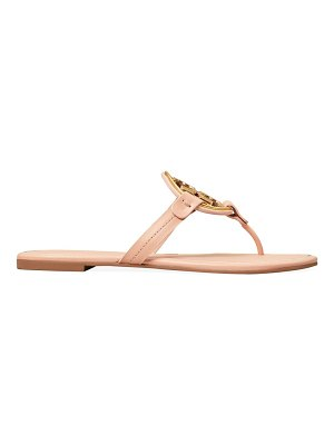 Tory Burch miller metal leather thong sandals