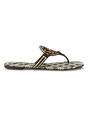 Tory Burch miller metal print leather thong sandals