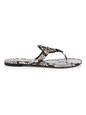 Tory Burch miller snakeskin-embossed leather thong sandals