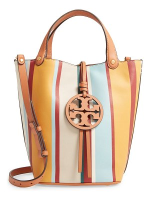 Tory Burch miller stripe bucket bag