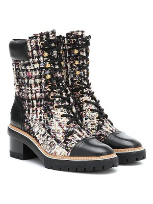 Tory Burch miller tweed ankle boots