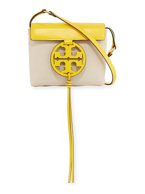 Tory Burch Miller Two-Tone Canvas Crossbody Bag