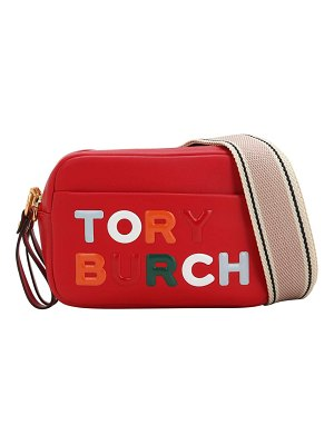 Tory Burch Mini embossed logo leather shoulder bag