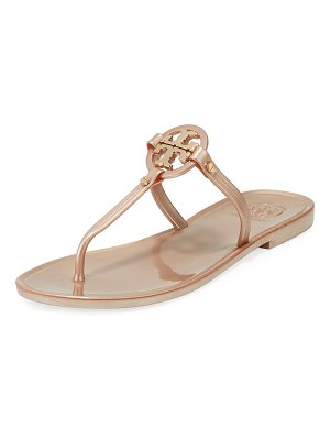 Tory Burch Mini Miller Flat Leather Thong Sandals
