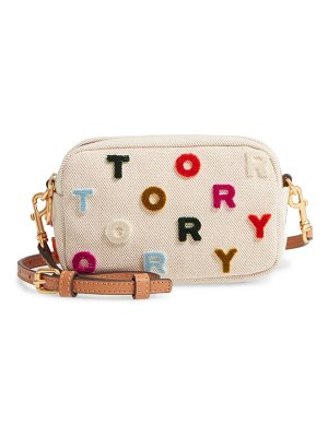 Tory Burch mini perry fil coupe canvas crossbody bag