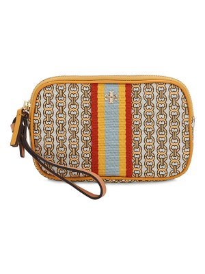 Tory Burch Mini printed canvas clutch