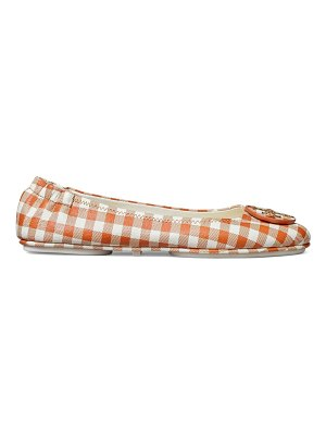 Tory Burch minnie gingham leather ballet flats