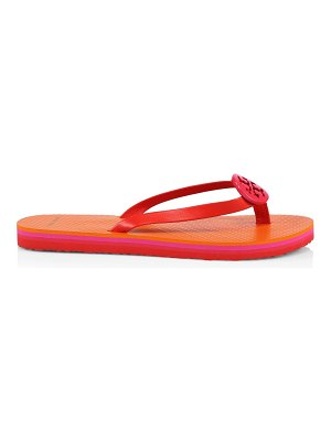 Tory Burch minnie leather-trimmed flip flops