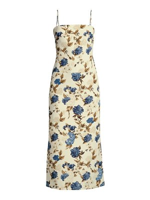 Tory Burch mixed floral strappy-back midi dress