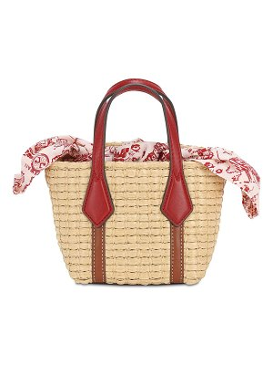 Tory Burch Nano perry straw top handle bag