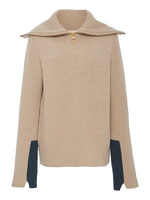 Tory Burch patch-cuff rib-knit sweater