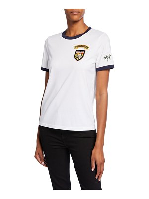 Tory Burch Patched Short-Sleeve Cotton T-Shirt