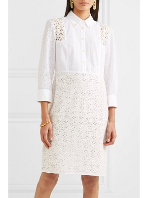 Tory Burch patchwork broderie anglaise cotton midi dress