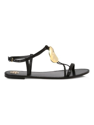 Tory Burch patos disk-embellished leather sandals