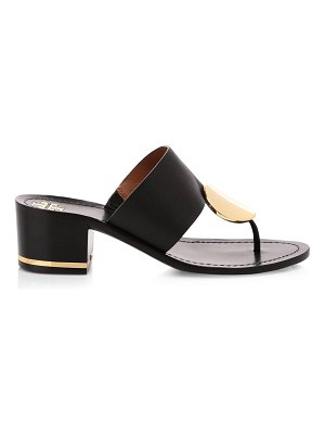 Tory Burch patos disk-embellished leather thong mules