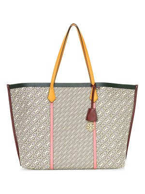Tory Burch perry jacquard leather tote