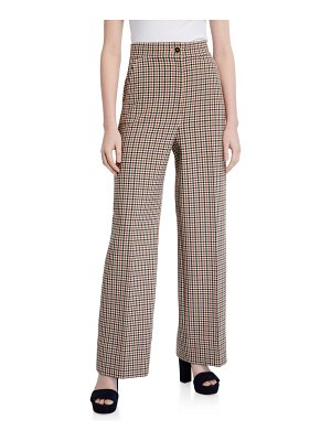 Tory Burch Plaid Wide-Leg Pants