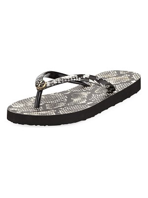 Tory Burch Printed Flip-Flop Sandals
