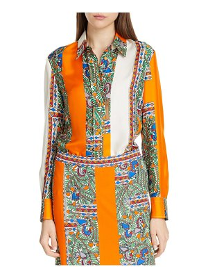 Tory Burch printed silk shirt