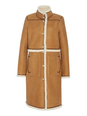 Tory Burch reversible shearling and suede coat