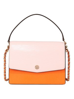 Tory Burch Robinson Convertible Colorblock Leather Shoulder Bag