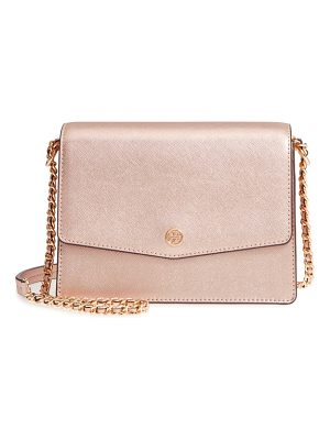 Tory Burch robinson convertible metallic leather shoulder bag