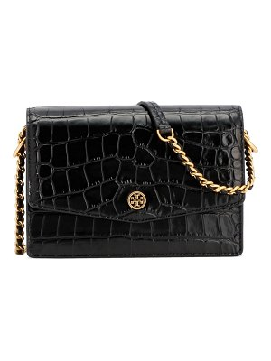 Tory Burch robinson embossed mini leather shoulder bag