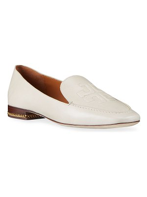 Tory Burch Ruby Leather Logo Loafers