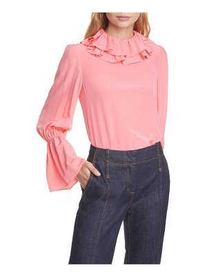 Tory Burch ruffle silk blouse