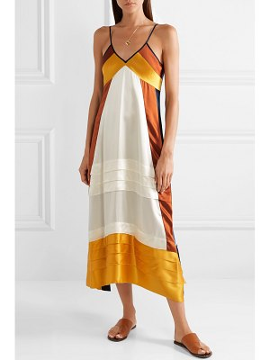 Tory Burch sasha color-block silk crepe de chine maxi dress