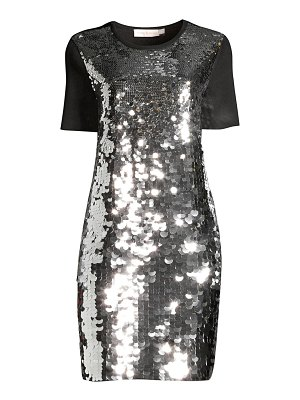 Tory Burch sequin embroidered t-shirt dress