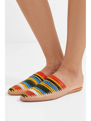 Tory Burch sienna woven leather slippers