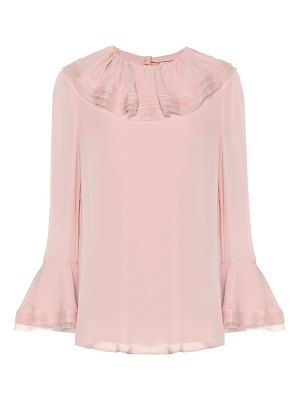 Tory Burch silk blouse with ruffles