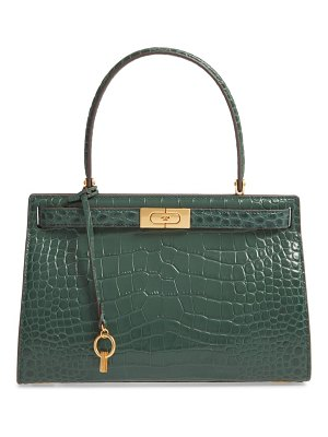 Tory Burch small lee radziwill croc embossed leather satchel