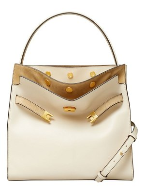 Tory Burch small lee radziwill leather & suede satchel