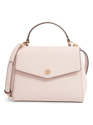 Tory Burch small robinson saffiano leather top handle satchel