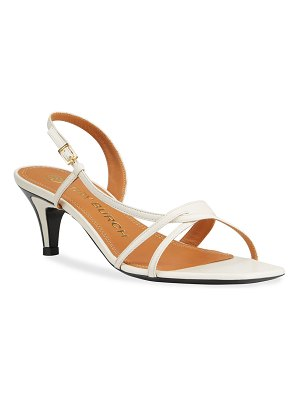 Tory Burch Strappy Leather Kitten-Heel Thong Sandals
