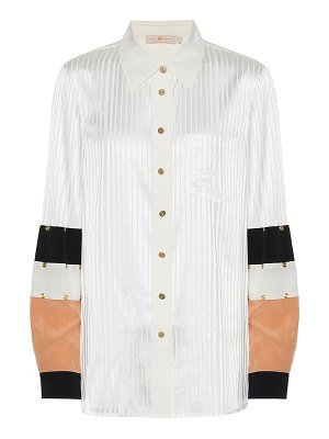 Tory Burch stretch-silk jacquard blouse