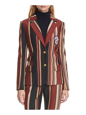 Tory Burch stripe knit blazer