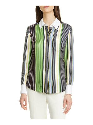 Tory Burch stripe silk shirt