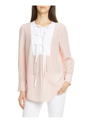 Tory Burch tie front silk top